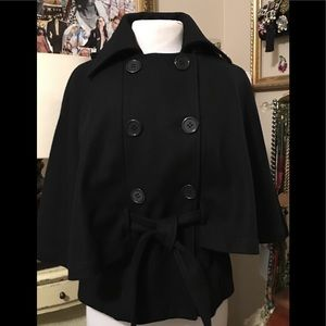 NWT Saks Fifth Ave Double Breasted Cape/Jacket